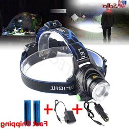 900000LM Rechargeable Head light T6 LED Tactical Headlamp Zo