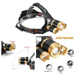 US Stock New 30000LU ZOOM CREE MENS 3X XML T6 LED Headlamp H
