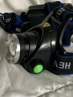 GRDE Zoomable 3 Modes Super Bright LED Headlamp.  NEW In Box