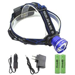 Genwiss Zoomable Brightest Led Headlamp Flashlight - Surper
